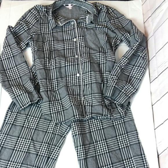 Victoria/'s Secret Mauve Medium Long Sleeve Knit Sleep Dress Shirt Pajama VS PJ